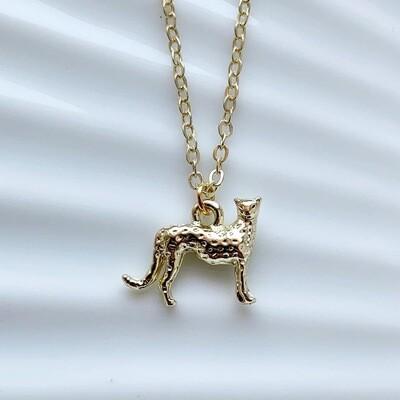 Luipaard ketting goud