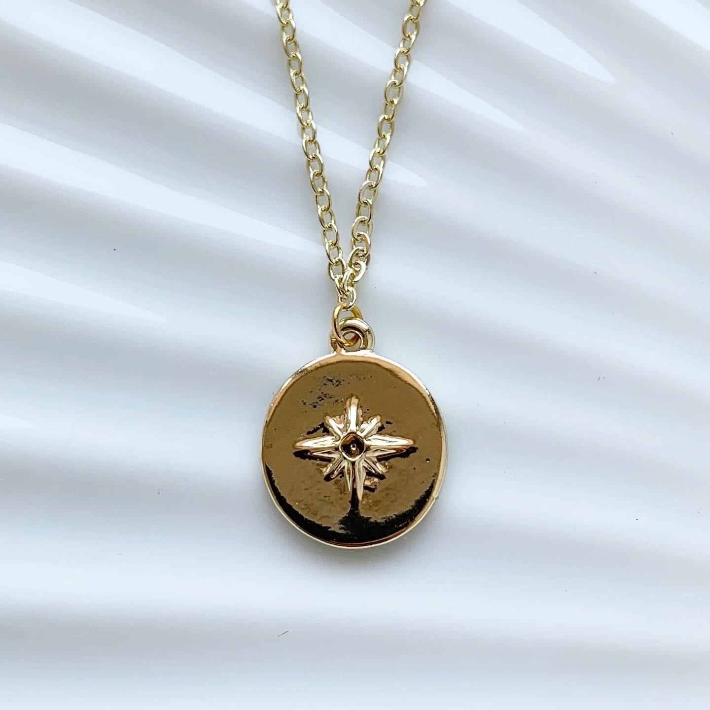 Shimmering star ketting goud