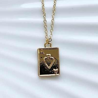 Ace of spades ketting goud