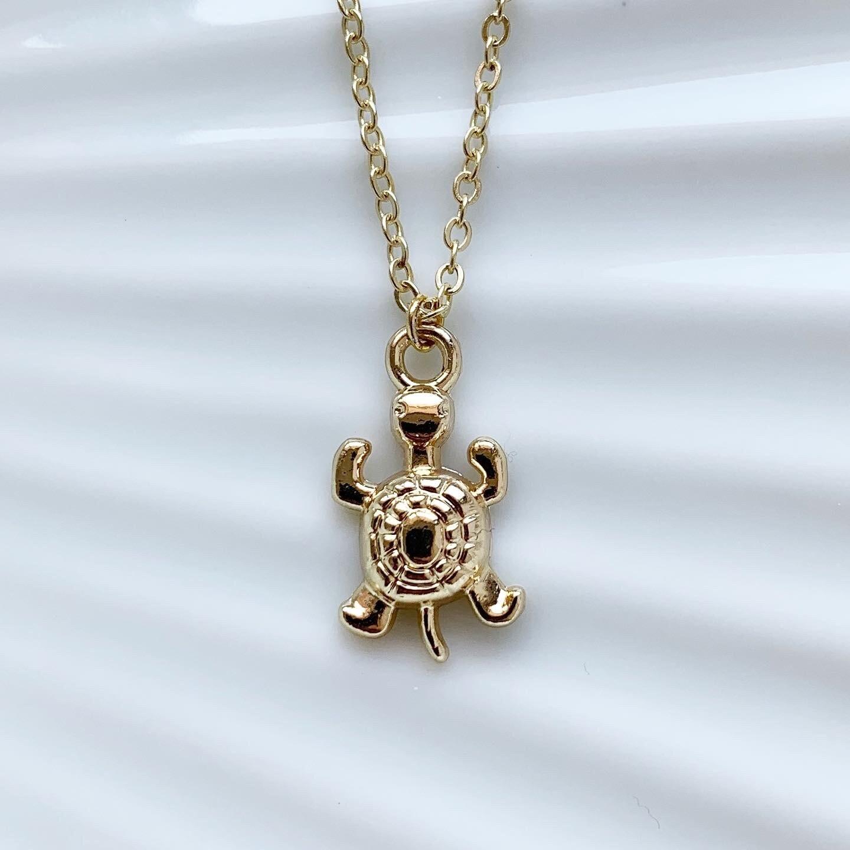 Schildpad ketting goud