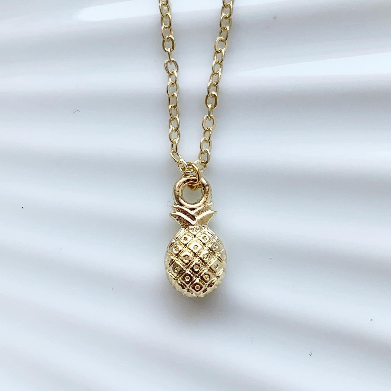 Pineapple ketting goud