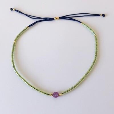 Subtiel kralen armbandje groen