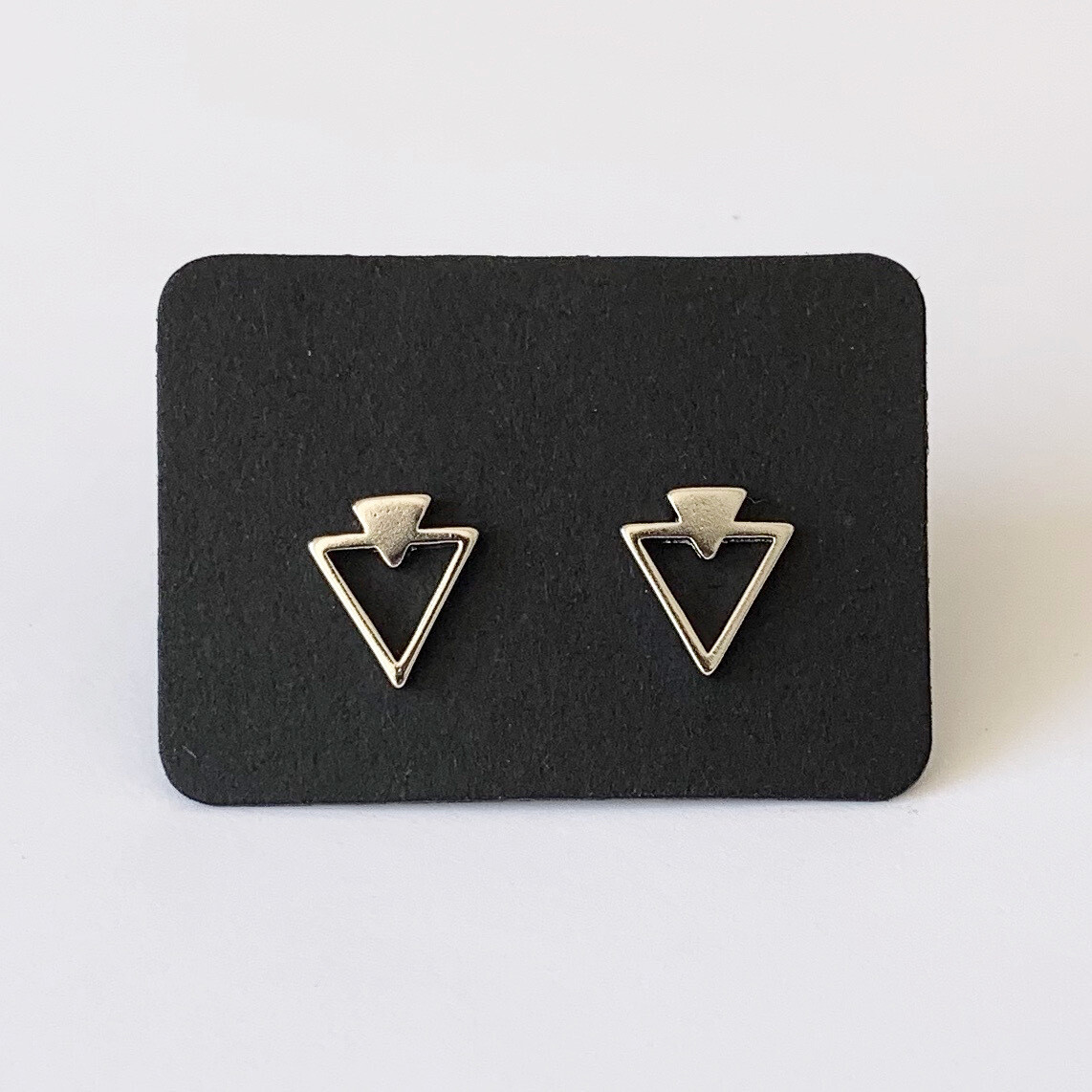 Double triangle knopjes 925 sterling zilver
