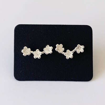 Tiny flowers knopjes 925 sterling zilver