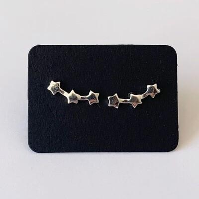 Mini sterren knopjes 925 sterling zilver