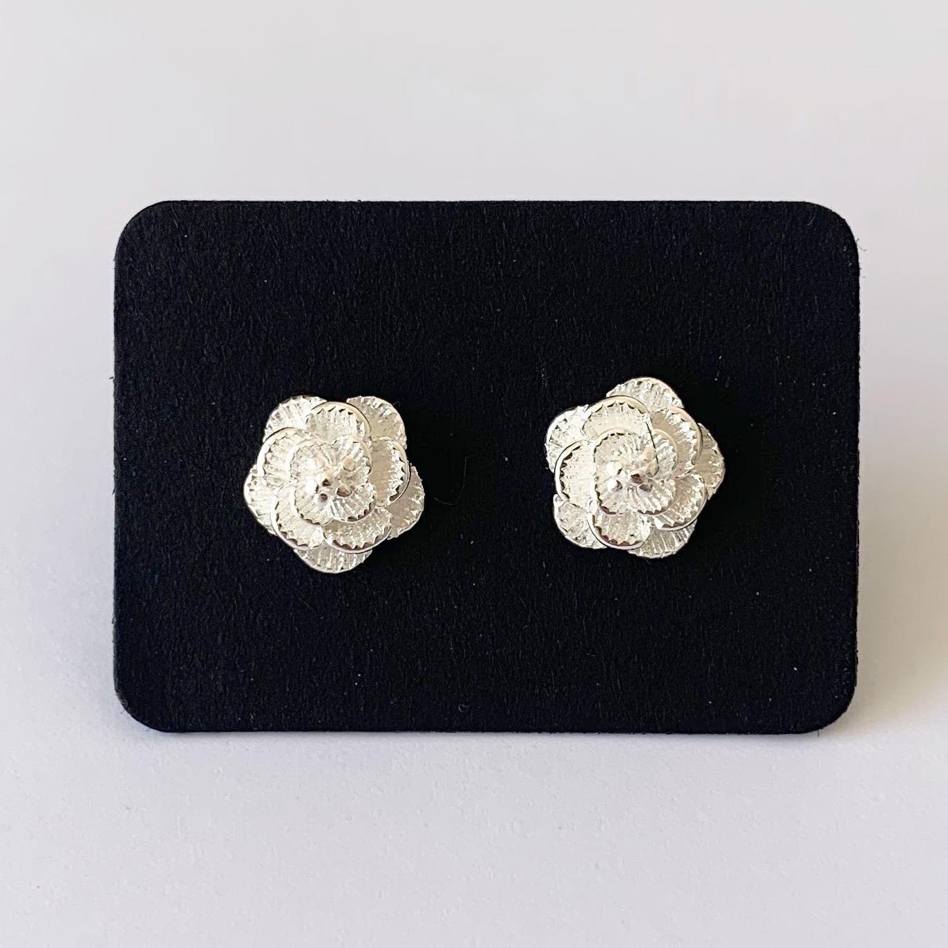 Flower knopjes 925 sterling zilver