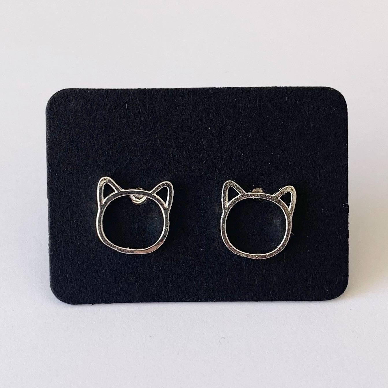 Little cat knopjes 925 sterling zilver