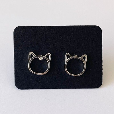 Little cat knopjes 925 sterling zilver