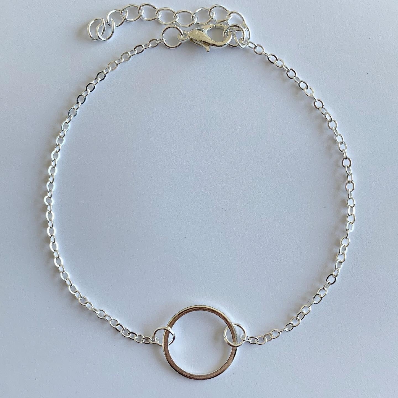 Circle enkelbandje zilver
