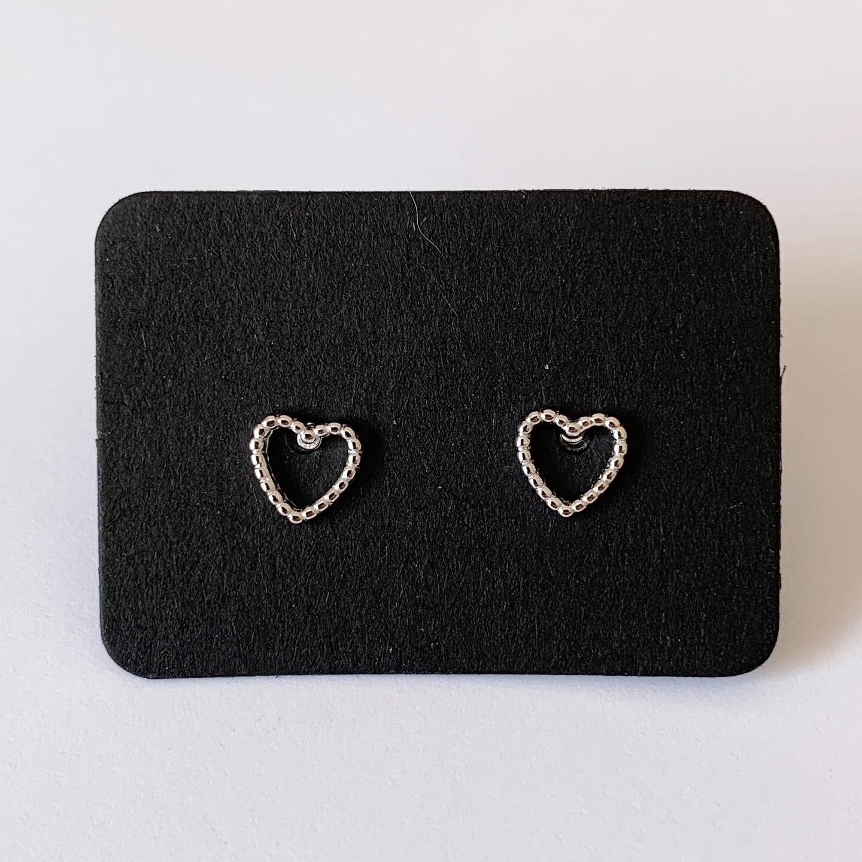 Open heart knopjes 925 sterling zilver
