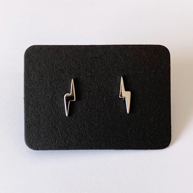 Tiny lightning knopjes 925 sterling zilver