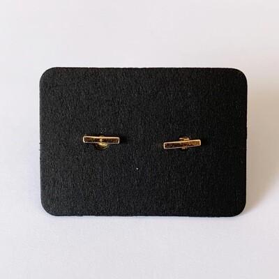 Minimalistische knopjes gold plated