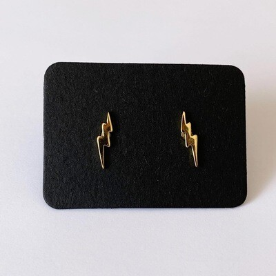 Lightning knopjes gold plated