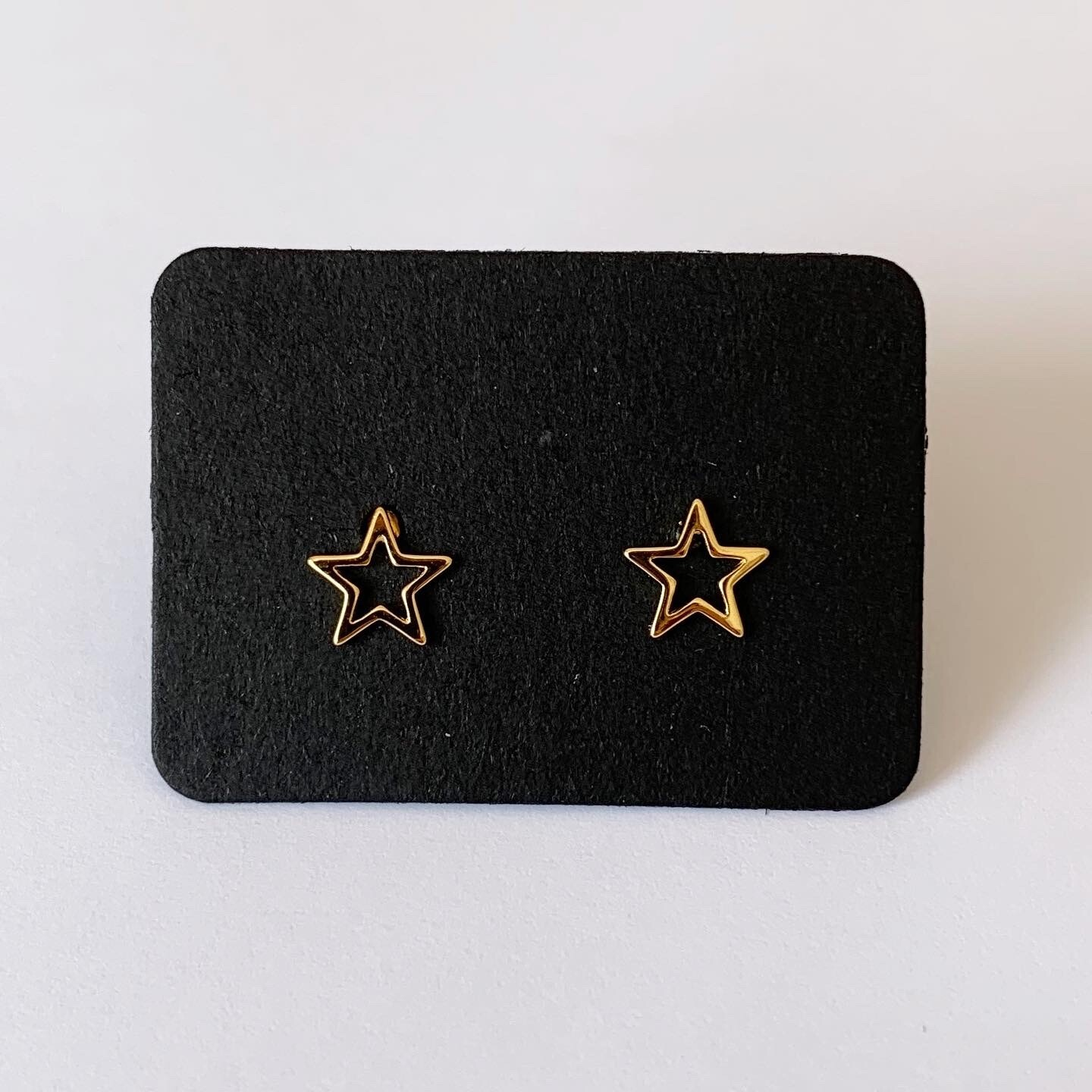 Open star knopjes gold plated