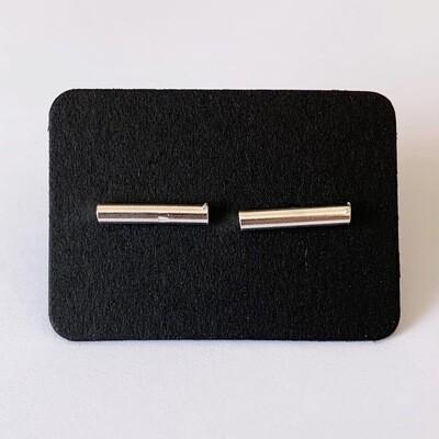 Minimalistische bar knopjes 925 sterling zilver