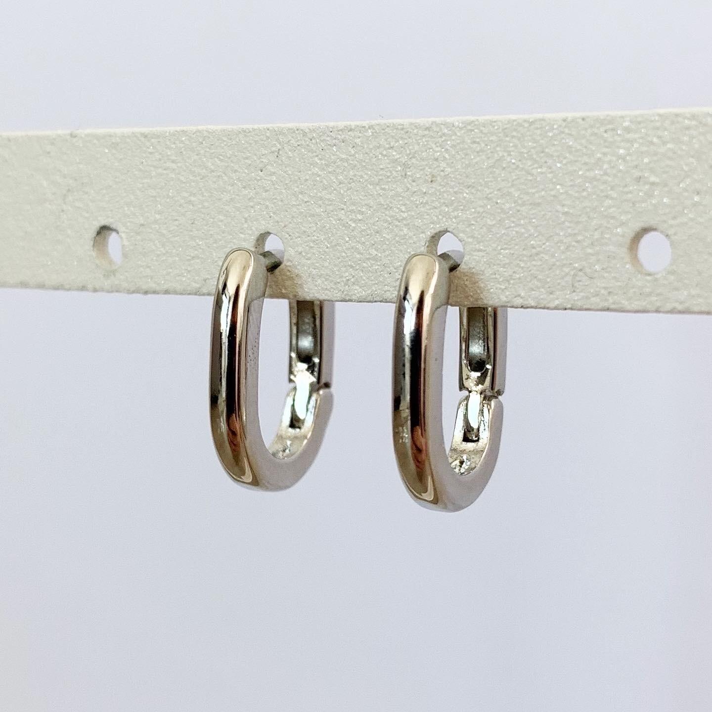 Minimalistische oorringetjes 925 sterling zilver 15 mm