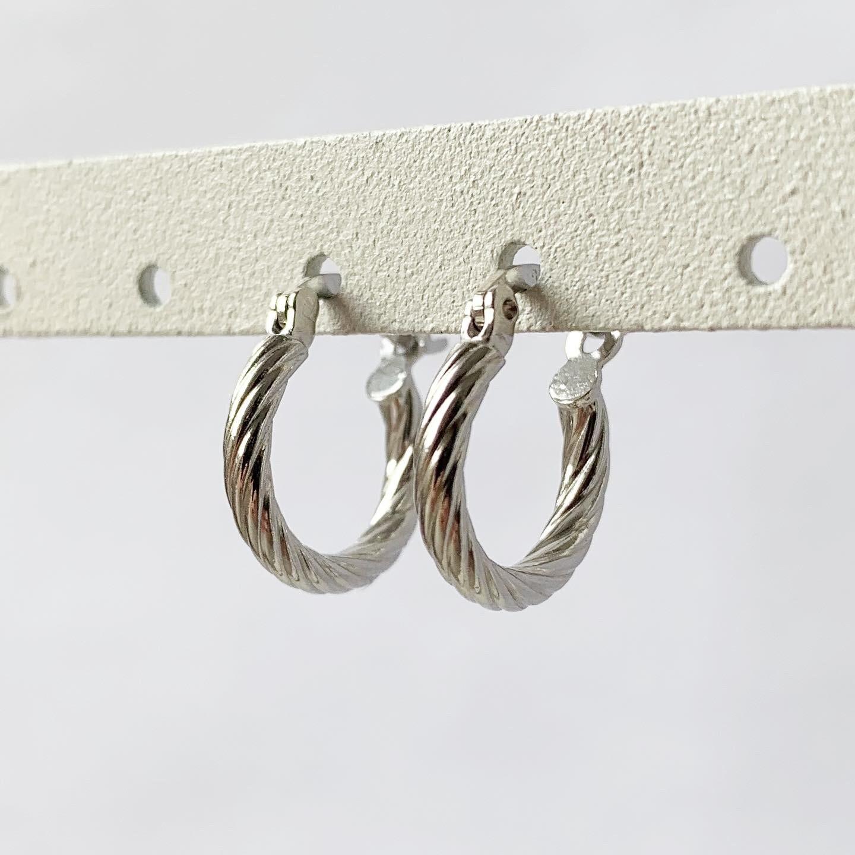 Twist oorringetjes 925 sterling zilver 15 mm