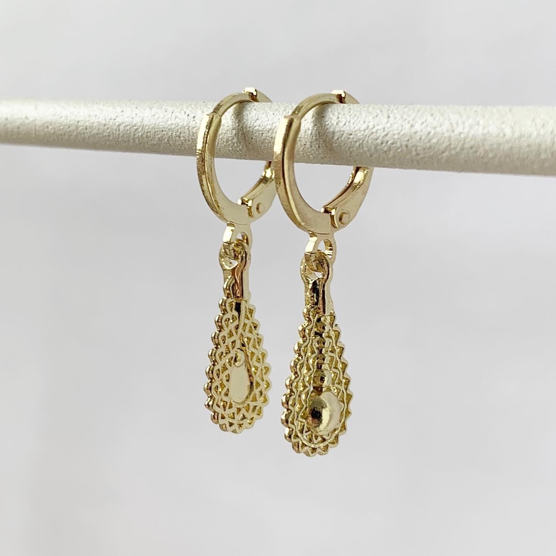 Drop oorbellen goud