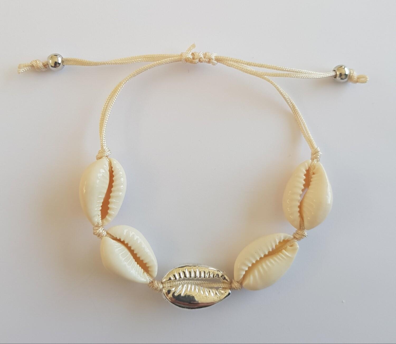 Schelpen armband met goud