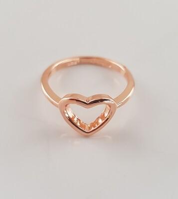 Hartjes ring rose goud