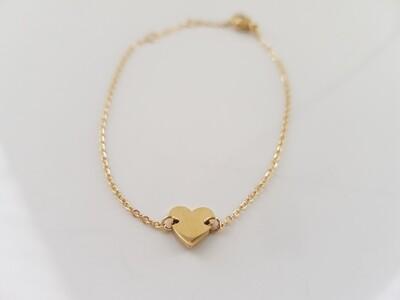 Mini hartje armband goud stainless steel