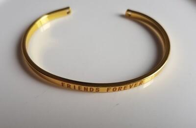 BFF armband goud