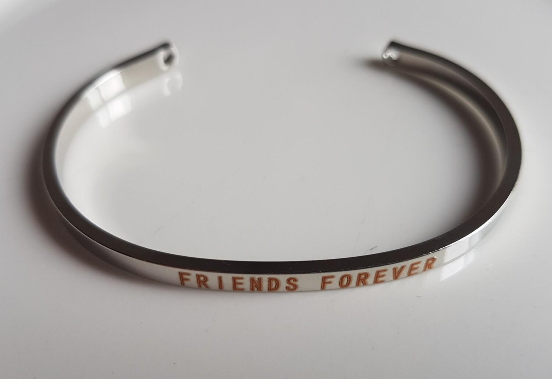 BFF armband zilver