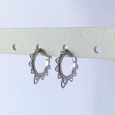 BOHO oorringetjes 925 sterling zilver