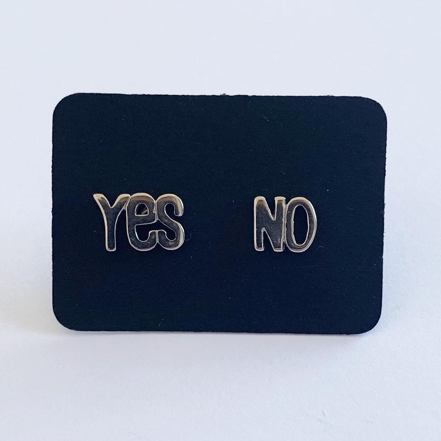YES/NO knopjes 925 sterling zilver