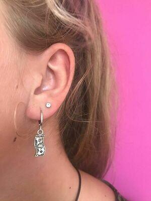 Mini biljetjes oorbellen