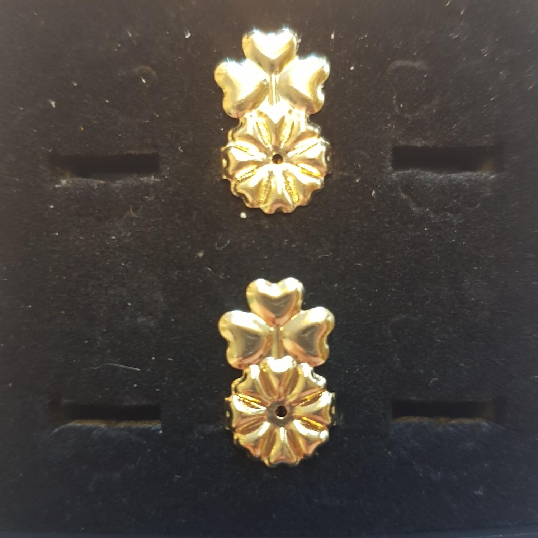 Oorbellifter 3 hartjes goud