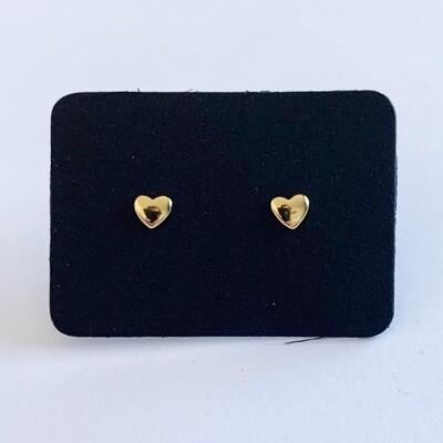 Tiny hartjes knopjes goud 925 sterling zilver