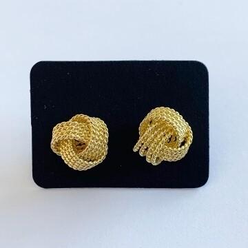 Gedraaide oorknopjes goud 925 sterling zilver