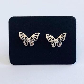 Butterfly oorknopjes 925 sterling zilver