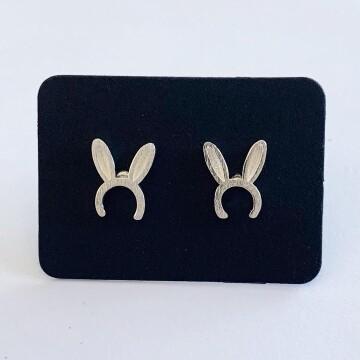 Bunny oortjes oorknopjes 925 sterling zilver