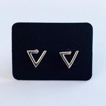 Open driehoek oorknopjes 925 sterling zilver