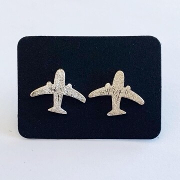 Vliegtuig oorknopjes 925 sterling zilver