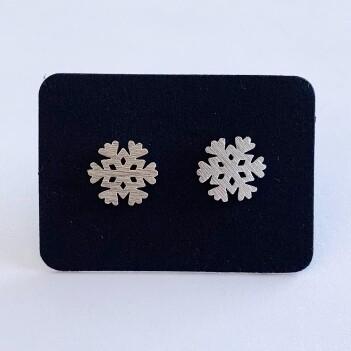 Snowflake oorknopjes 925 sterling zilver
