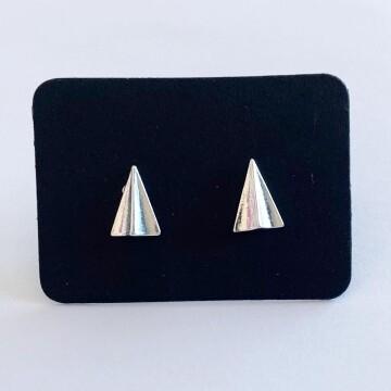 Paper plane oorknopjes 925 sterling zilver