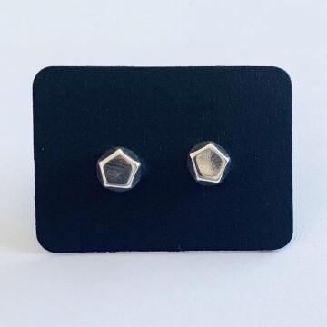 Tiny vijfhoekig oorknopjes 925 sterling zilver