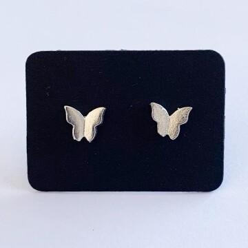 Smooth butterfly oorknopjes 925 sterling zilver