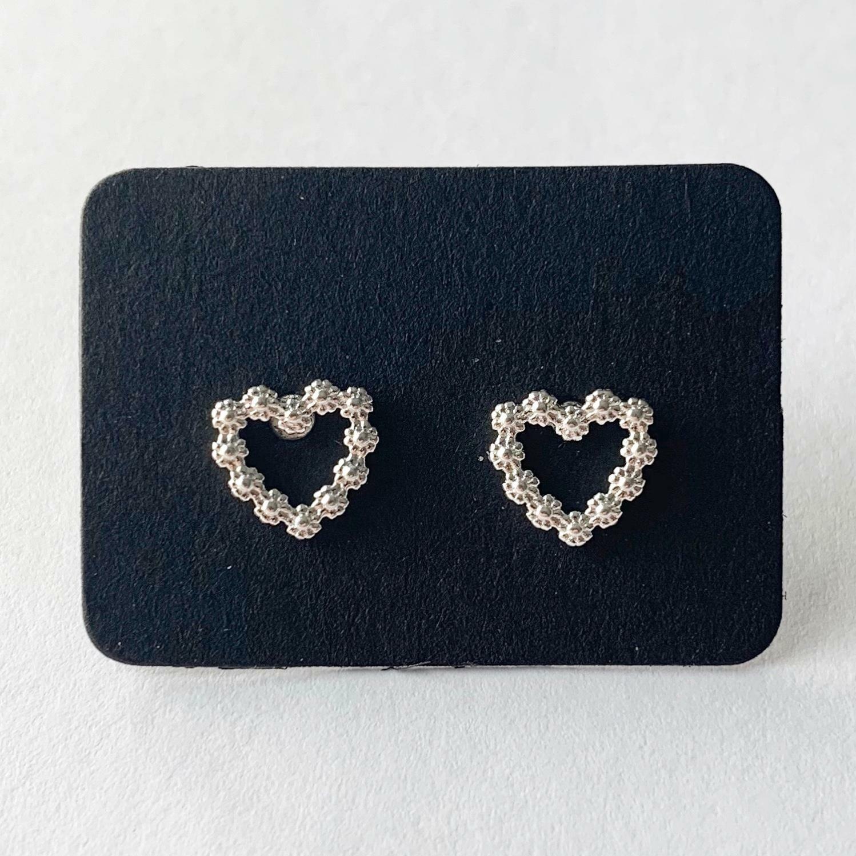 Flower heart knopjes 925 sterling zilver