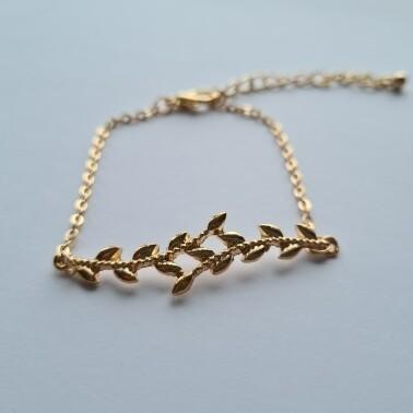 Leaf armband kleur: goud