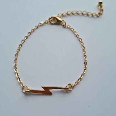 Bliksem armband kleur: goud