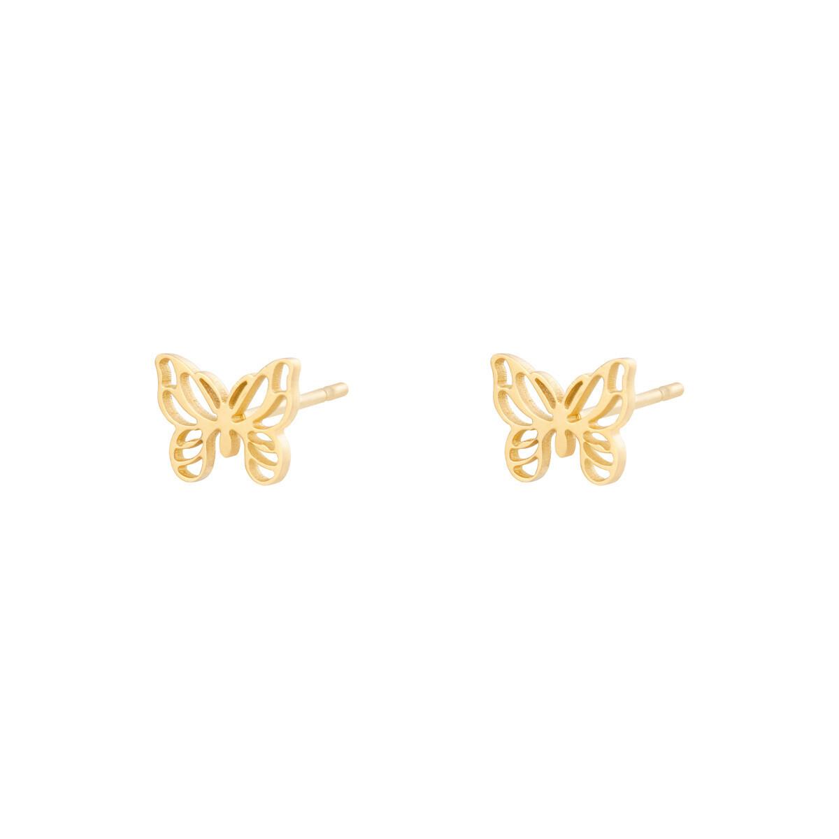Vlinder knopjes stainless steel goud