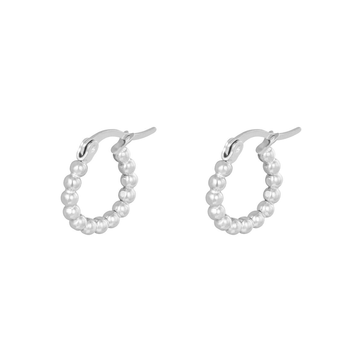 Beads oorringetjes zilver 15mm stainless steel