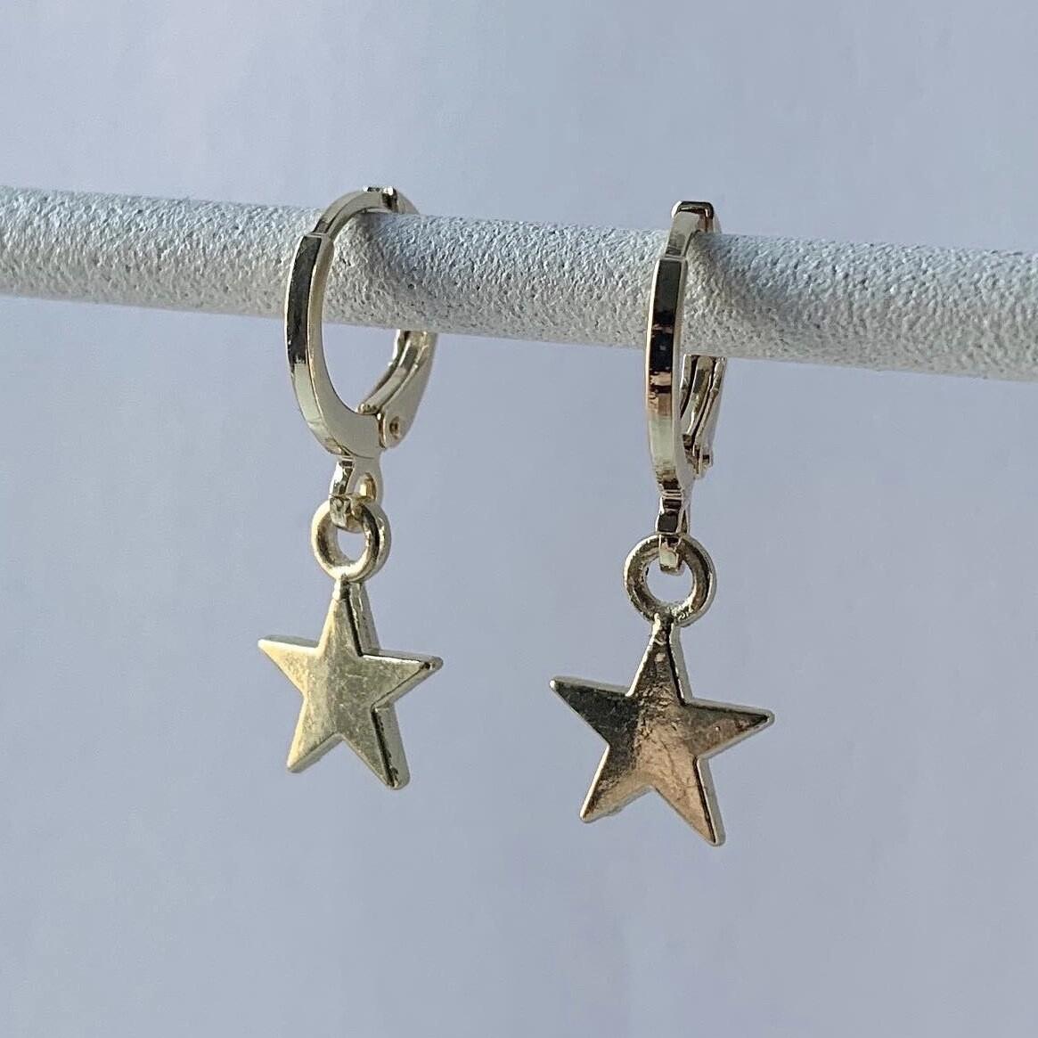Smooth star oorbellen goud