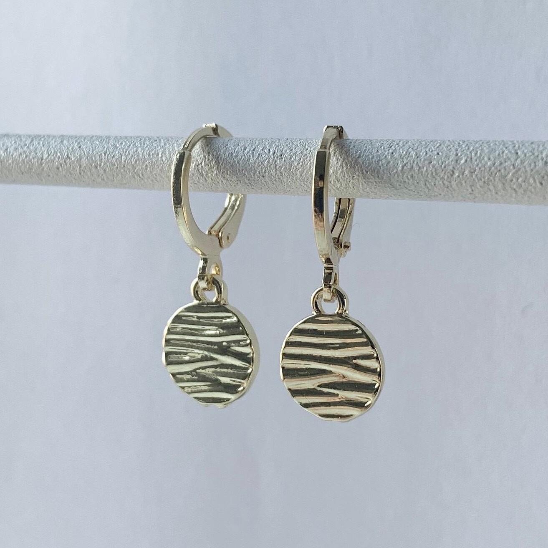 Mini zebraprint oorbellen goud