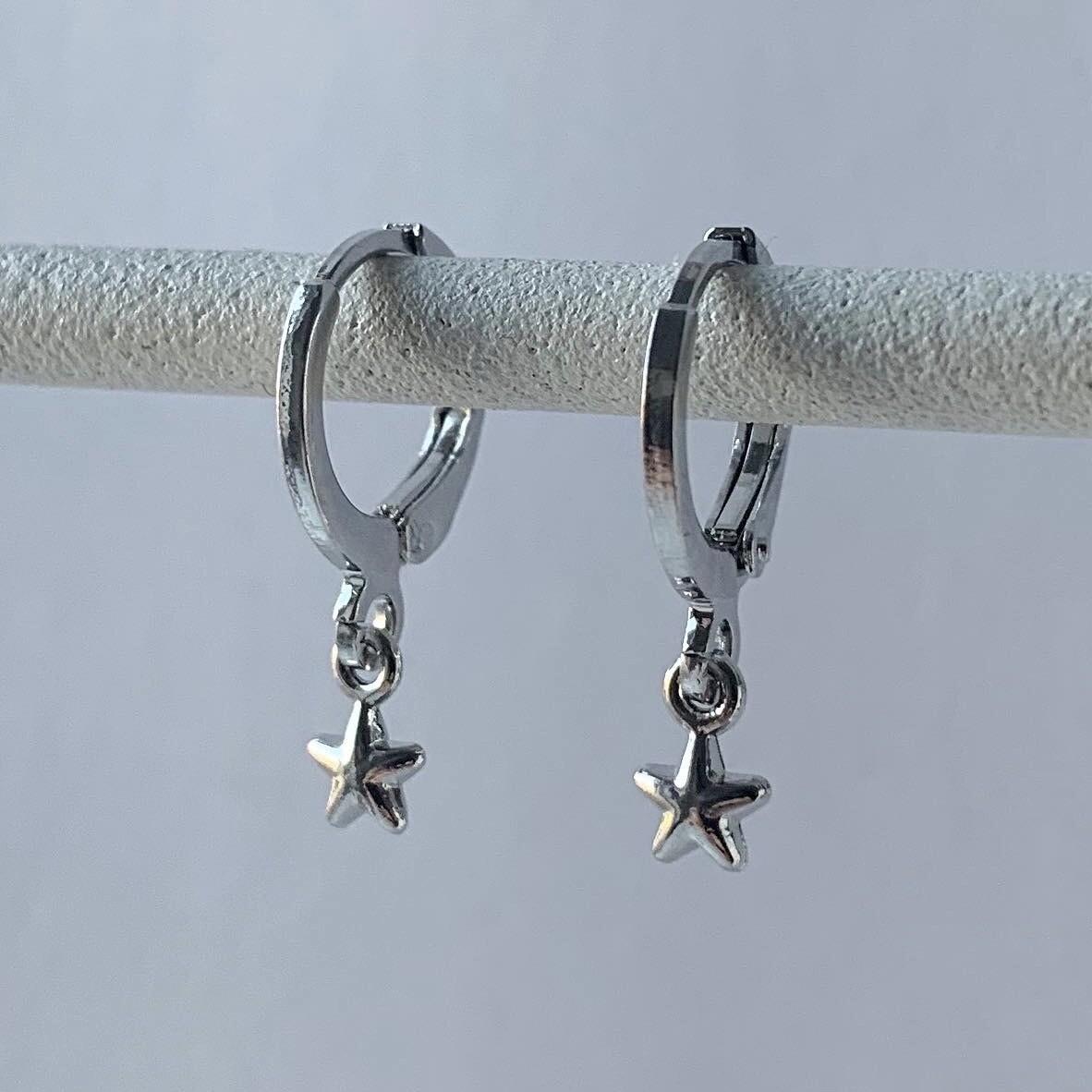 Tiny bright star oorbellen zilver
