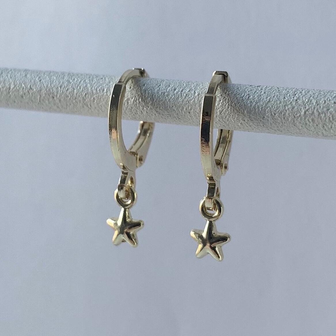 Tiny bright star oorbellen goud